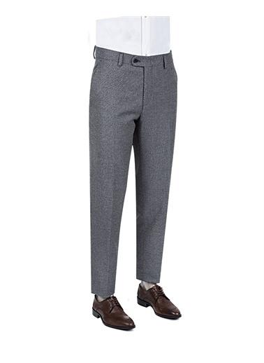 D'S Damat Ds Damat Slim Fit Antrasit Armürlü Kumaş Pantolon Antrasit